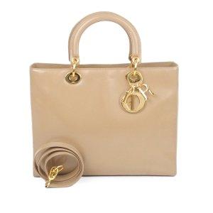 Dior Satchel beige leather