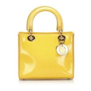 Dior Lady Dior Patent Leather Handbag