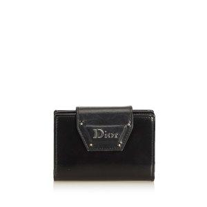 Dior Porte-cartes noir cuir