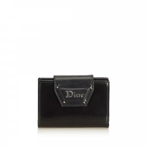 Dior Tarjetero negro Cuero