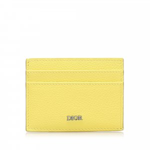 Dior Card Case yellow leather