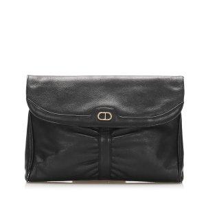 Dior Clutch black leather