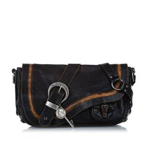 Dior Leather Gaucho Saddle