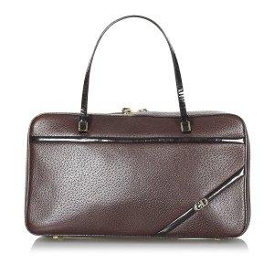 Dior Handbag brown red leather