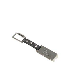 Dior Key Chain black leather