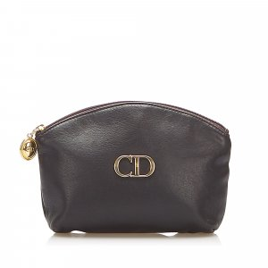 Dior Pouch Bag black leather