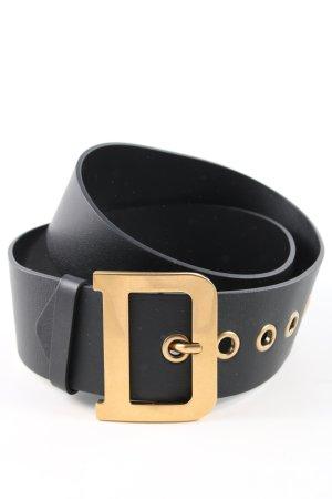 Dior Ledergürtel schwarz-goldfarben Casual-Look