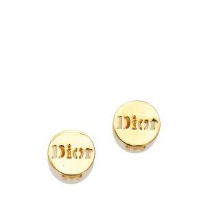 Dior Boucle d'oreille doré métal