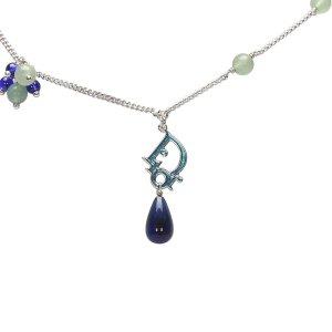 Dior Logo Drop Pendant Necklace