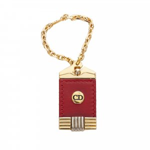 Dior Key Chain red metal