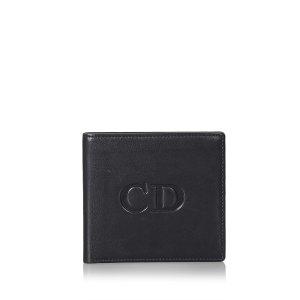 Dior Wallet black leather