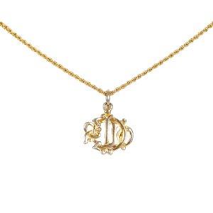 Dior Collier doré métal
