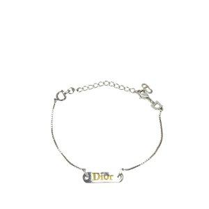 Dior Logo Plate Charm Bracelet
