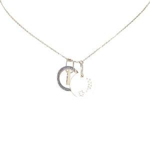 Dior Collier argenté métal