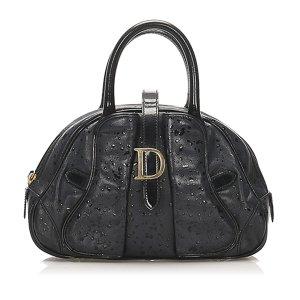 Dior Marbled Saddle Dome Leather Handbag