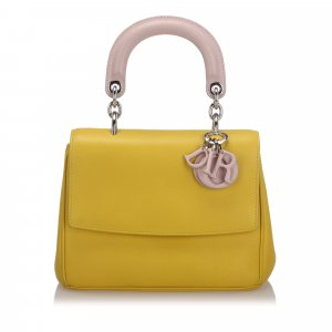 Dior Satchel geel Leer