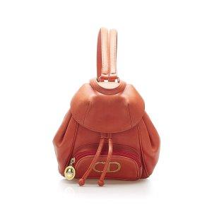 Dior Backpack orange leather