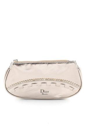 Dior Mini sac doré lettrage imprimé style décontracté