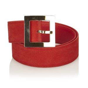 Dior Ceinture rouge cuir