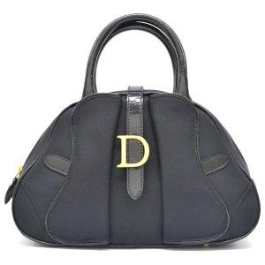 Dior Handtas zwart Katoen