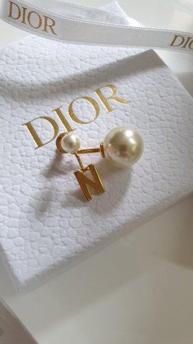 Dior Zdobione kolczyki złoto