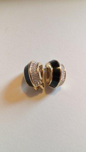 Christian Dior Clip d'oreille noir-doré