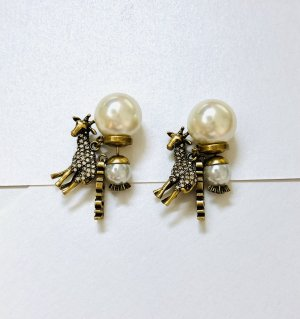 Dior Pearl Earring white-gold-colored
