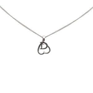 Dior Open Heart Pendant Necklace