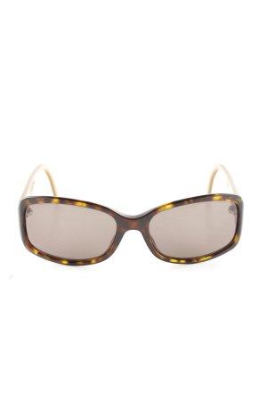 Dior Ovale zonnebril bruin-sleutelbloem luipaardprint casual uitstraling