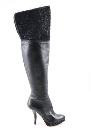 Dior Overknees schwarz extravaganter Stil