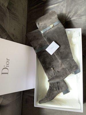 Dior Buty nad kolano antracyt