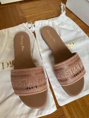 Christian Dior Sabots rose-gold-coloured