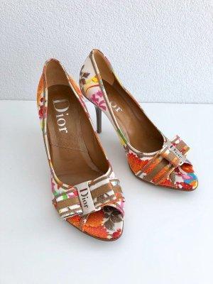 Christian Dior Peep Toe Pumps multicolored