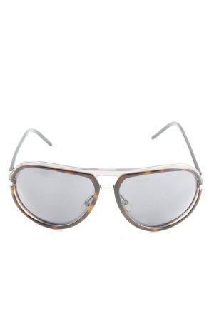 Dior Pilotenbril licht Oranje-bruin dierenprint casual uitstraling