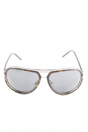 Dior Aviator Glasses light orange-brown animal pattern casual look