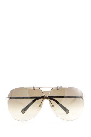 Dior Lunettes aviateur brun style décontracté