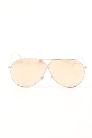 Dior Gafas de piloto color plata-crema estampado temático look casual