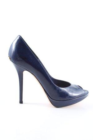 Dior Plateau-Pumps blau Business-Look