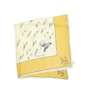 Dior Sjaal geel Zijde