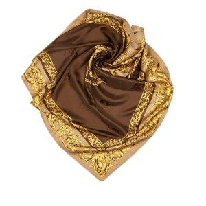 Dior Sjaal donkerbruin Zijde