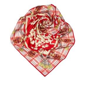 Dior Sjaal rood Zijde