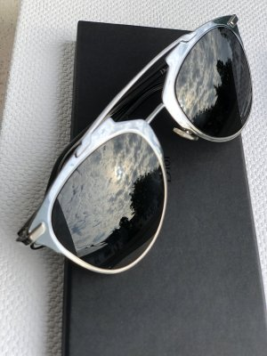 Dior Lunettes de soleil ovales argenté