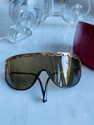 Christian Dior Gafas Retro marrón oscuro-color oro
