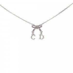 Dior Ribbon Logo Necklace