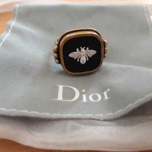 Dior Zdobiony pierścionek Wielokolorowy