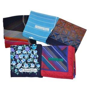 Dior Écharpe en tricot bleu soie