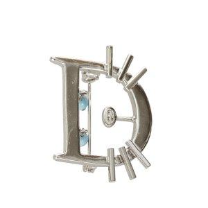 Dior Broche argenté métal