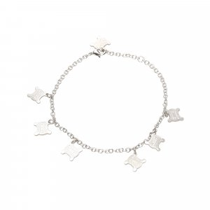 Dior Braccialetto sottile argento Metallo