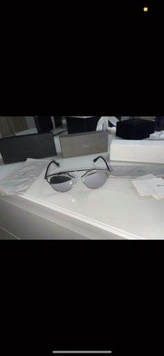 Dior Occhiale da sole ovale argento Metallo