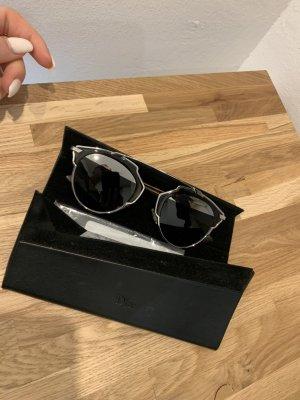 Dior Oval Sunglasses brown-silver-colored